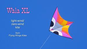 best light wind kite 2017 wala xl light wind zero wind kite first flight youtube
