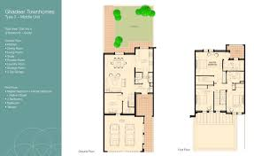 3 Bedroom Villa Floor Plans by Ghadeer Villa Floor Plans The Lakes Dubai