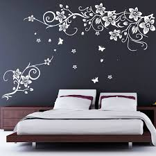 Stickers For Walls In Bedrooms by Flower And Butterfly Vine Wall Stickers Wall Sticker Walls And