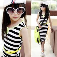 aliexpress com buy retail girls u0027 black and white stripe dress