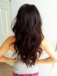 long hair layers long curly hair brunette beach waves big wavy