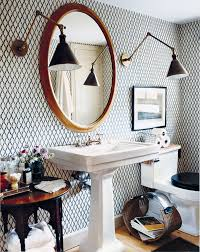 Eclectic Bathroom Ideas Storage Inspiration In The Powder Room This Is Glamorous