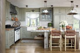 Distressed Kitchen Cabinets Kitchen Rustic With Vaulted Ceiling - Kitchen cabinets milwaukee