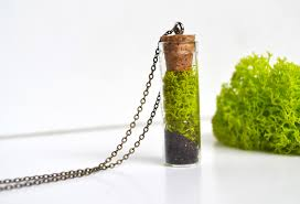 photo gifts necklace images Moss necklace nature lover gift vial necklace plant jewelry jpg