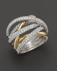highway wedding band ross simons 60 ct t w diamond highway ring in 14kt two tone