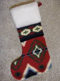 native american christmas stocking red and green