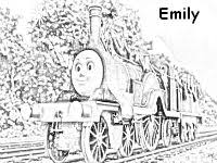 emily train coloring thomas train