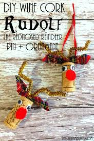 rudolf reindeer wine cork craft ornament gun ramblings