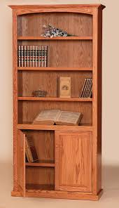 Wood Bookcase With Doors Boy Furniture Bookcases