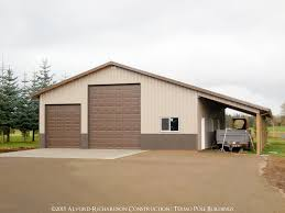 How To Build A Lean To On A Pole Barn Garages And Shops Built By Alvord Richardson Texmo Pole
