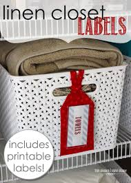 linen closet labels with free printable labels the homes i