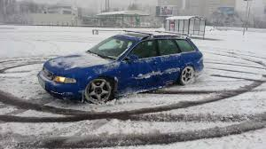 audi a4 1 9 tdi quattro snow drift youtube