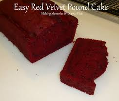 red velvet pound cake the easy way making memories with your kids