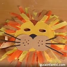 como hacer mascaras en forma de rosa máscara de león disfraces caseros para niños en carnaval