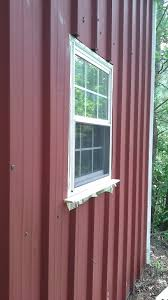 installing a window on corrugated tin page 2