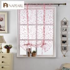 Sheer Window Treatments Aliexpress Com Buy Kitchen Short Curtains Sheer Curtains White
