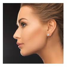 diamond stud earrings for women igi certified 14k white gold diamond stud earrings 1cttw