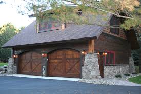 carriage style garage doors garage and shed rustic with attic