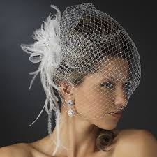 bridal hair accesories jeweled couture feather fascinator veil bridal hair