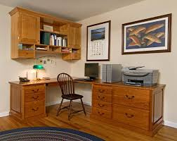 Office Desk With Cabinets Handmade Custom Home Office Desk And Cabinet By Landis
