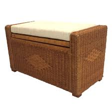 chest storage ottoman adam color light brown with cushion