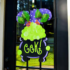 halloween ghost door hanger trick or treat sign pumpkin halloween