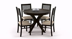 sullivan round dining table the various liana zella 4 seater round dining table set urban ladder