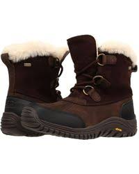 lord ugg arielle dyed sheepskin ugg aliso uggpure boot in black lyst
