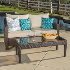 Patio Loveseats Home Loft Concepts Dragoon 2 Piece Outdoor Loveseat U0026 Table