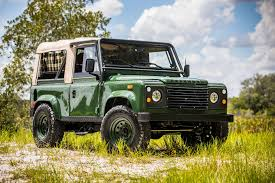 land rover defender 90 convertible retro not resto mod land rover going on tour classiccars com