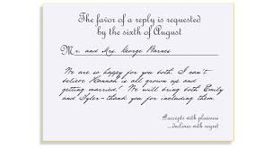 Sample Of Wedding Invitation Cards Wording Formal Response Card Etiquette Mind Your Rsvps U0026 Qs