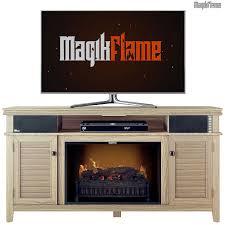 achilles driftwood media center electric fireplace wall mantel tv