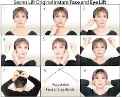amazon com instant face neck and eye lift dark and light hair