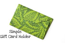 gift card holder simple gift card holder a tutorial smashed peas carrots