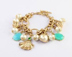 charm bracelet pearl images Cute statement multi pearl shell charm bracelet wholesale jpg