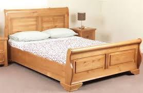 Oak Sleigh Bed Sweet Dreams Jackdaw Oak Sleigh Bed Frame 150cm Kingsize 5ft Solid