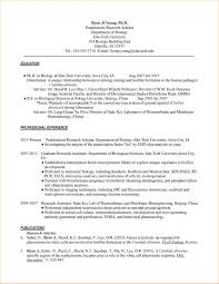 Resume Samples Academic by Academic Cv Examples Science Virtren Com