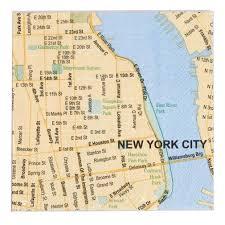 york city on map york city map 5 inch cocktail napkins
