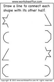 connect other half u2013 1 worksheet preschool worksheets
