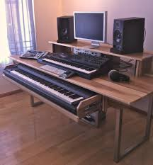 Dj Producer Desk Custom High Contrast Audio Music Studio Production By Monkwood
