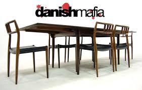 mid century danish modern rosewood dining table eames danish mafia