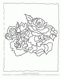 rose pictures color kids coloring