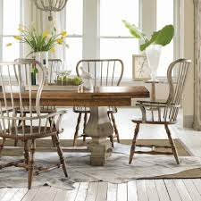 trestle dining table set hooker furniture sanctuary 7 piece refectory trestle dining set with
