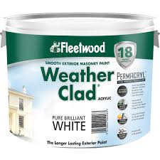 fleetwood smooth masonry brilliant white paint 10 litre white