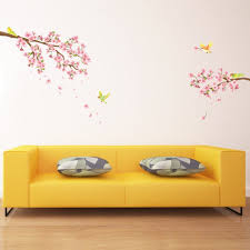 Nursery Stickers Decowall Dw 1303 Cherry Blossoms U0026 Birds Peel And Stick Nursery