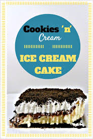 cookies u0027n u0027 cream ice cream cake three different directions
