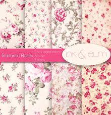 floral digital scrapbook paper free printable flower pink lilac