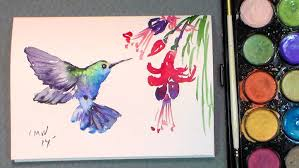 paint a quick hummingbird in watercolors quick u0026 easy youtube