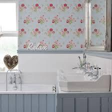 shabby chic small bathroom ideas vintage style bathroom with wallpaper easy decorating ideas design