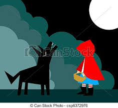clip art vector red riding hood wolf